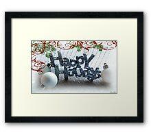 Happy Holidays Framed Print