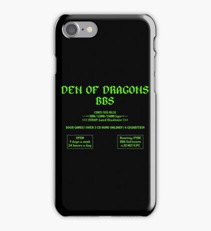 DEN OF DRAGONS BBS iPhone Case/Skin