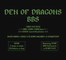 DEN OF DRAGONS BBS by adamforcedesign