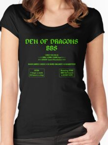 DEN OF DRAGONS BBS Women's Fitted Scoop T-Shirt