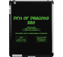 DEN OF DRAGONS BBS iPad Case/Skin