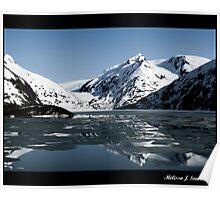 Reflections - Portage Glacier  Poster