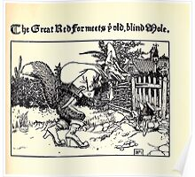 The Wonder Clock Howard Pyle 1915 0107 The Great Red Fox Meets Old Blind Mole Poster