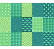 Patchwork Patterns - Seafoam Green Photographic Print
