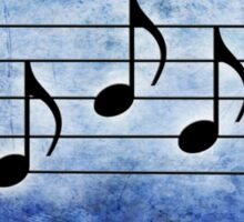 SING - Words in Music Blue Background - V-Note Creations Sticker