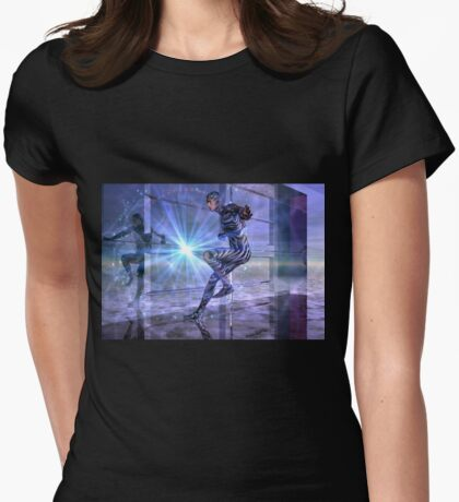 defy the boundaries Womens Fitted T-Shirt