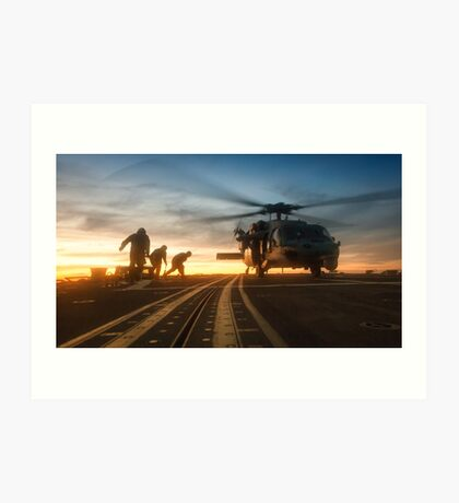 MH-60S Seahawk Helicopter Art Print