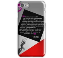 The Power of Persistence (Quotation) iPhone Case/Skin