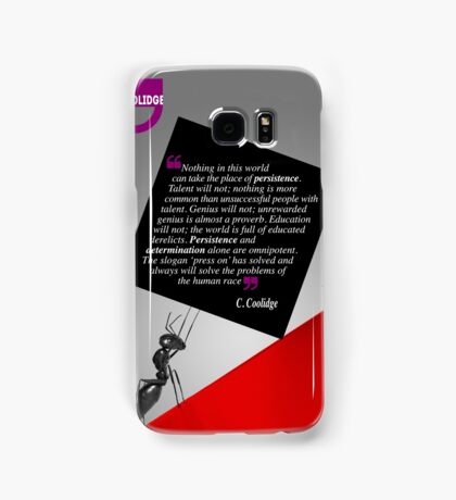 The Power of Persistence (Quotation) Samsung Galaxy Case/Skin