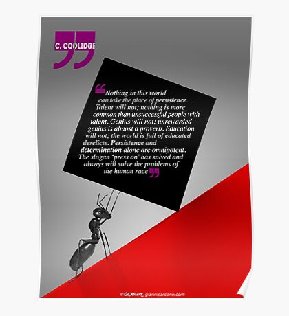 The Power of Persistence (Quotation) Poster