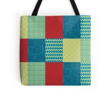 Patchwork Patterns - Muted Primary Tote Bag