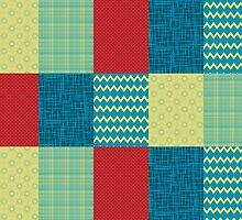 Patchwork Patterns - Muted Primary by SRowe Art