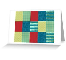 Patchwork Patterns - Muted Primary Greeting Card