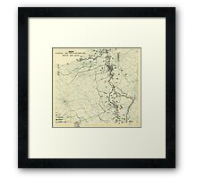 World War II Twelfth Army Group Situation Map October 21 1944 Framed Print