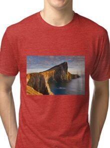 Evening sunset at Neist Point Isle of Skye Scotland Tri-blend T-Shirt