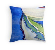 Upon Reflection - watercolour on paper Throw Pillow