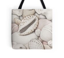 Pebbles, Cowrie & Abalone Shells Tote Bag