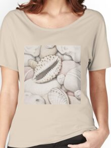 Pebbles, Cowrie & Abalone Shells Women's Relaxed Fit T-Shirt