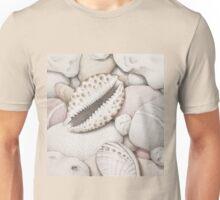 Pebbles, Cowrie & Abalone Shells Unisex T-Shirt
