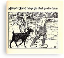 The Wonder Clock Howard Pyle 1915 0189 Master Jacob Takes His Black Goat to Town Metal Print