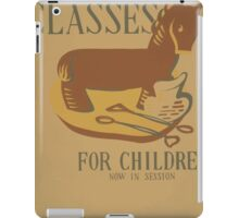 WPA United States Government Work Project Administration Poster 0647 Sculpture Classes for Children iPad Case/Skin