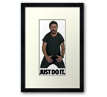 Shia LaBeouf Just Do It Framed Print