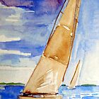Racing the Wind - watercolour on paper by ChristineBetts