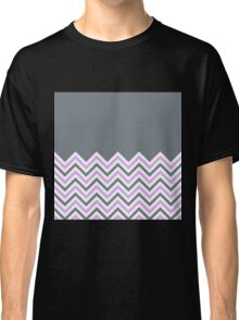 Cool Grey & Pink Chevrons Classic T-Shirt