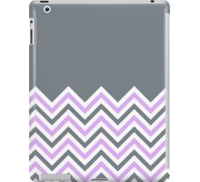 Cool Grey & Pink Chevrons iPad Case/Skin