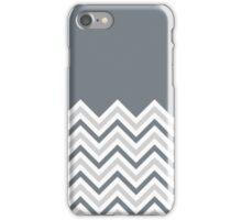 Two-Tone Grey Chevrons iPhone Case/Skin