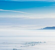 Misty blue (Malvern Hills) by Chris Tarling