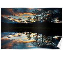 A wonderful end to the day at the river Brathay Poster