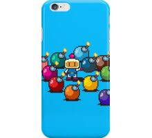 Bomberman Rainbow Bomb Set pixel art by PXLFLX iPhone Case/Skin