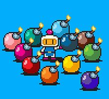 Bomberman Rainbow Bomb Set pixel art by PXLFLX by PXLFLX