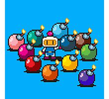 Bomberman Rainbow Bomb Set pixel art by PXLFLX Photographic Print