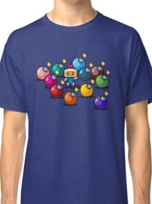 Bomberman Rainbow Bomb Set pixel art by PXLFLX Classic T-Shirt