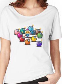 Bomberman Rainbow Bomb Set pixel art by PXLFLX Women's Relaxed Fit T-Shirt