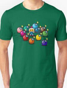 Bomberman Rainbow Bomb Set pixel art by PXLFLX Unisex T-Shirt