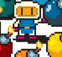 Bomberman Rainbow Bomb Set pixel art by PXLFLX Sticker