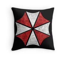 Resident Evil Umbrella Typography Throw Pillow