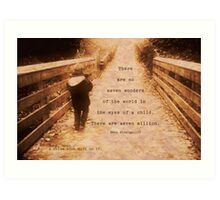 boy; ... a noise with dirt on it Art Print