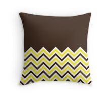 Chocolate-10-Chevron-Bicolor Chevrons Throw Pillow