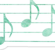SING - Words in Music - Teal Green -  V-Note Creations Sticker