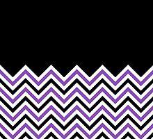 Black & Light Purple Chevrons by ImageNugget