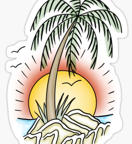 Summer Beach Island Sticker
