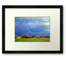 A Bolt From The Blue Framed Print