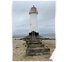 Point of Ayr Lighthouse, Talacre, North Wales Poster