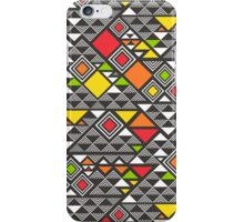 Squares &Triangles in Red Orange iPhone Case/Skin