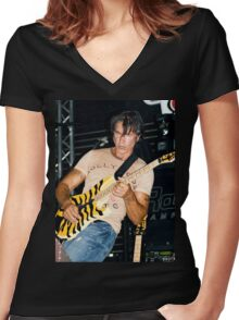George Lynch of Dokken Women's Fitted V-Neck T-Shirt