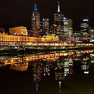 Flinders Street Station and Cityscape by Andi Surjanto